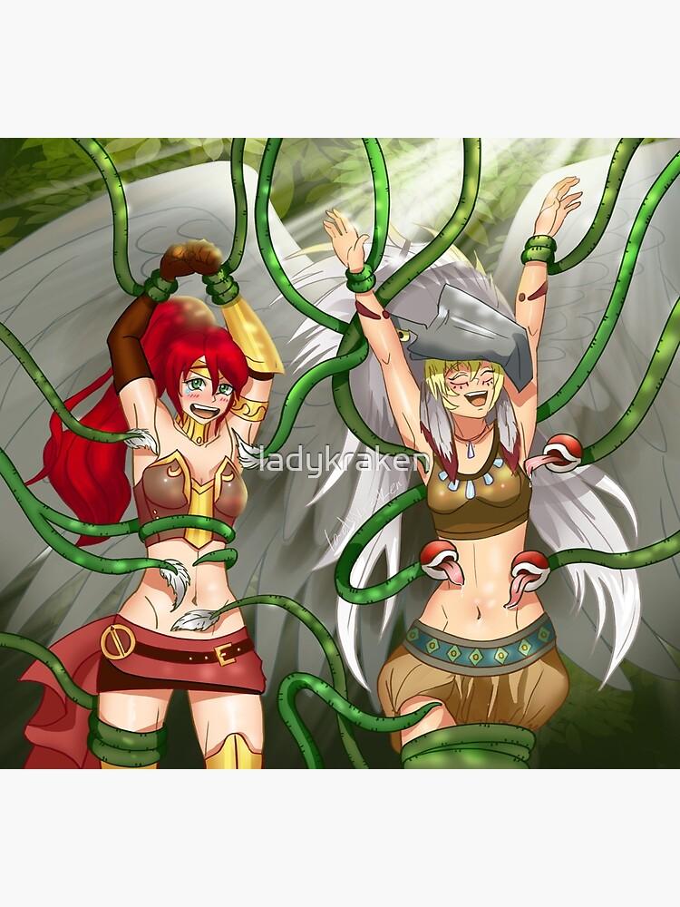 Warrior Angel Tickling by ladykraken