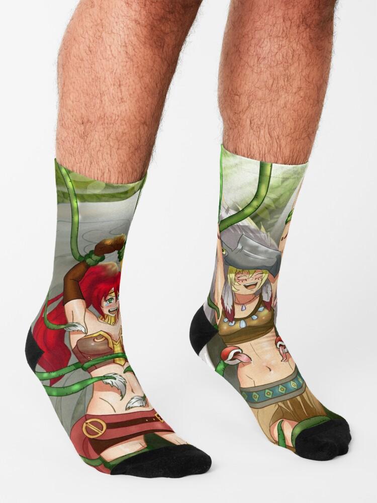 Alternate view of Warrior Angel Tickling Socks