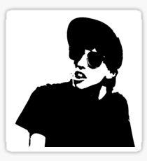 Slacker Black and White Sticker