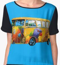 Lorikeet Bus Wrap Women's Chiffon Top