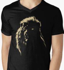 Löwe T-Shirt mit V-Ausschnitt für Männer