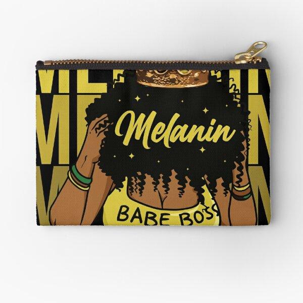 Proud Melanin Babe Boss Queen Vibe Zipper Pouch
