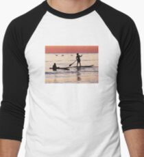 Child Art - Magical Sunset Men's Baseball ¾ T-Shirt