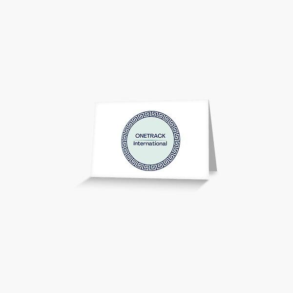 ONETrack International Sticker  Greeting Card
