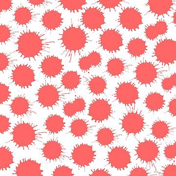 Inky Blots - Tropical Pink by Artberry