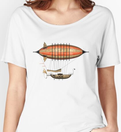 Elegant Vintage Steampunk Airship Women's Relaxed Fit T-Shirt