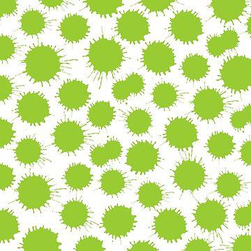 Inky Blots - Martian Green by Artberry