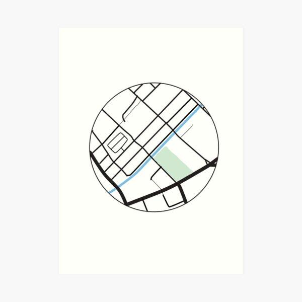 Manchester Gay Village Map Print Art Print