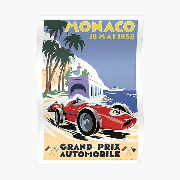 1958 Grand Prix de Monaco Poster