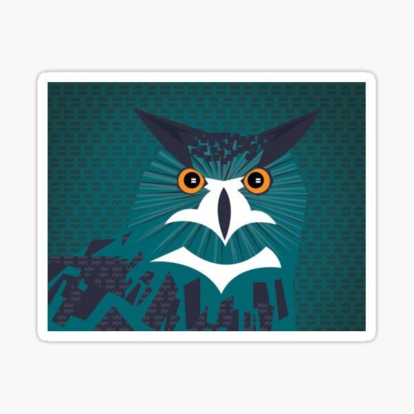 Taki the Eurasian Eagle Owl Sticker