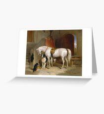 Edwin Landseer - Favourites, The Property Of Prince George Of Cambridge 1834.  Landseer  Greeting Card