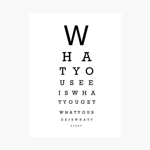 Examen de la vista Lámina fotográfica