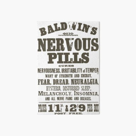 Nervous Pills Art Board Print