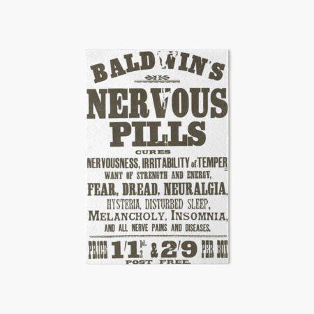 Nervous Pills Art Board Print