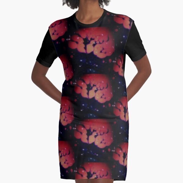Mystical Tree Graphic T-Shirt Dress