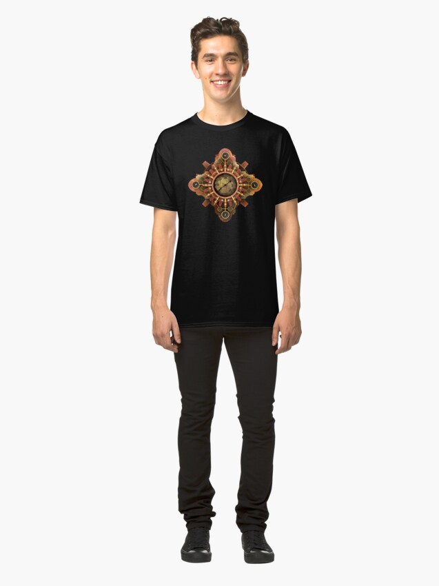Alternate view of Infernal Steampunk Vintage Machine part No.1A Classic T-Shirt