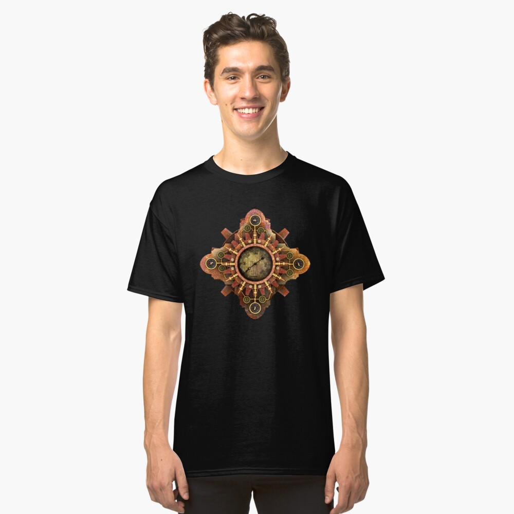 Infernal Steampunk Vintage Machine part No.1A Classic T-Shirt Front