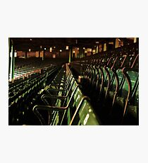 Bostons Fenway Park Baseball Vintage Seats Photographic Print