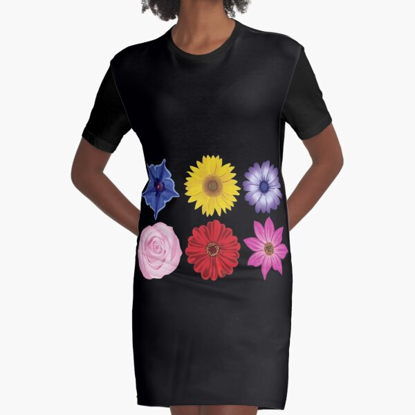 Perfect Flowers Graphic T-Shirt Dress