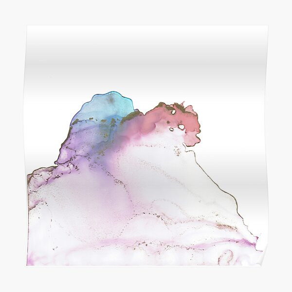 Cotton Candy Sky alcohol ink No. 3 Poster