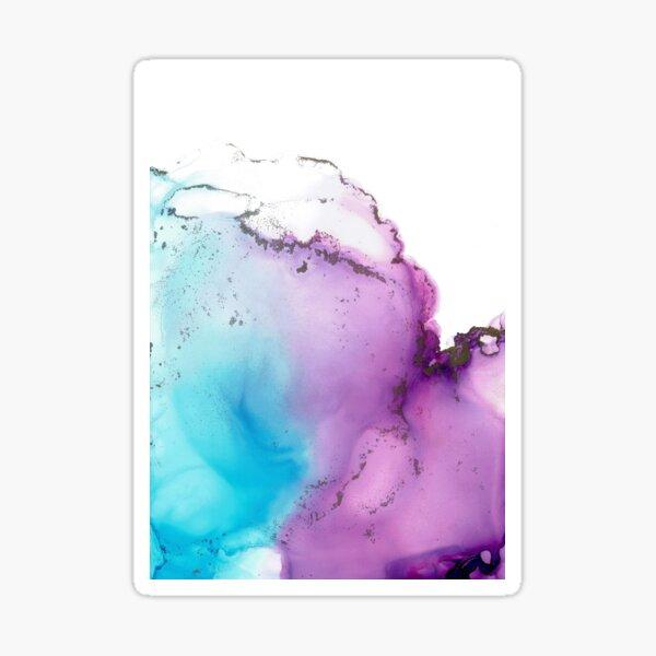 Cotton Candy Sky alcohol ink No. 4 Sticker