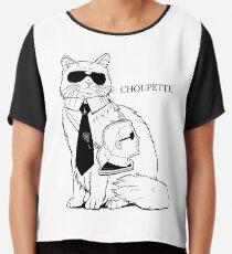 Choupette Marke Chiffontop