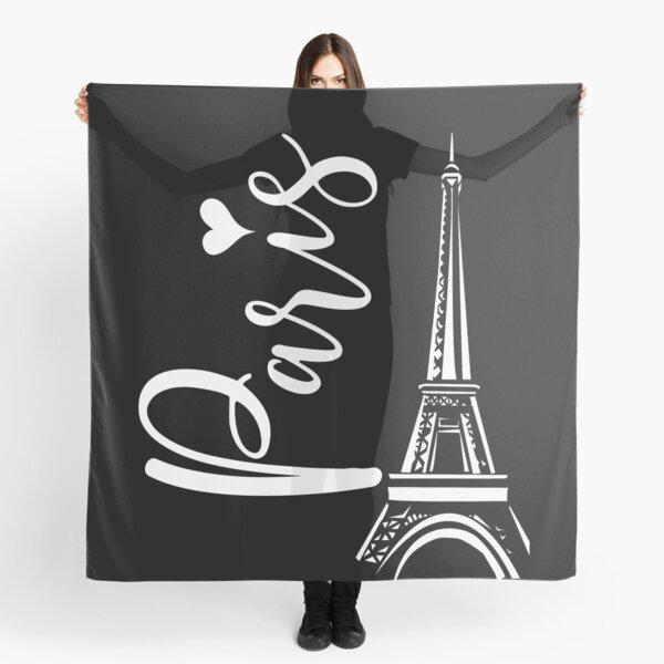 Cute Paris Eiffel Tower Love Heart Young Women's Travel Gift Scarf