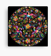 Mexican black pattern Canvas Print