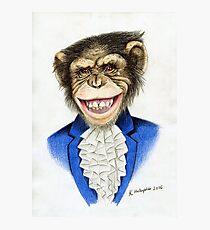 chimp the pimp Photographic Print