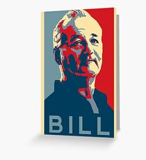 Bill Murray, Obama Hope Poster Greeting Card