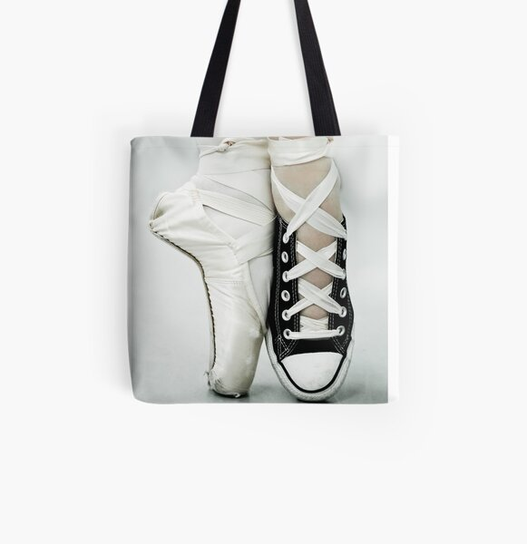 Converse / Pointe Shoe All Over Print Tote Bag