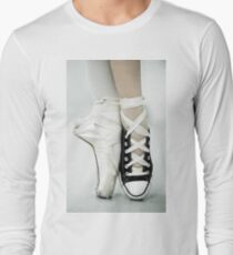 Converse / Pointe Shoe Long Sleeve T-Shirt