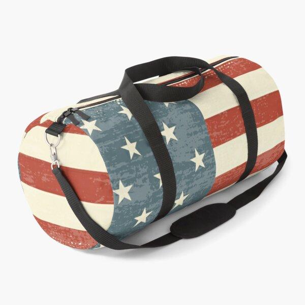 USA flag Vintage Design Retro American flag  Duffle Bag