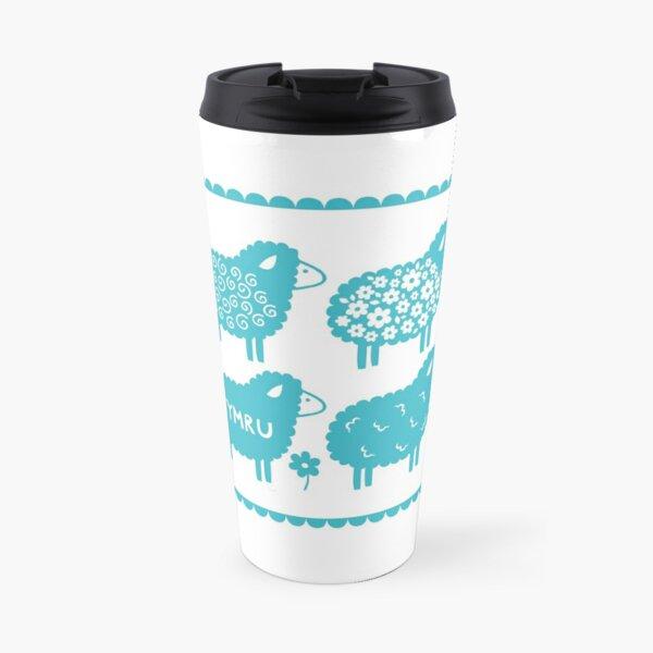 Cymru Sheep Welsh design Travel Mug