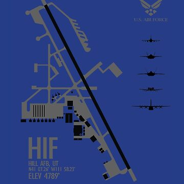 Hill Air Force Base Airfield Diagram by jdmosher
