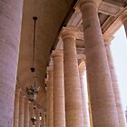 Bernini's Colonnade at the Piazza San Pietro by Alex Cassels