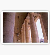 Bernini's Colonnade at the Piazza San Pietro Sticker