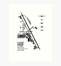 Hill Air Force Base Airfield Diagram (Gray) Art Print