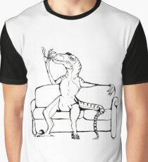 Raptor On A Couch. Graphic T-Shirt