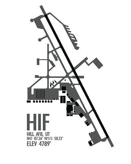 Hill Air Force Base Airfield Diagram Gray No Planes Posters By