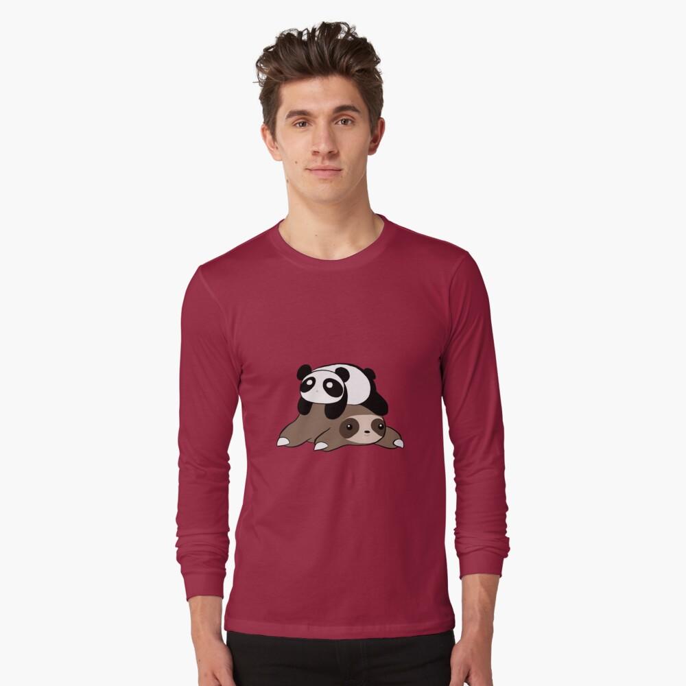 Sloth and Panda Long Sleeve T-Shirt