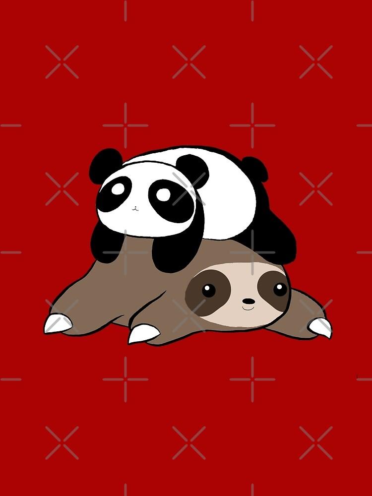 Sloth and Panda by SaradaBoru