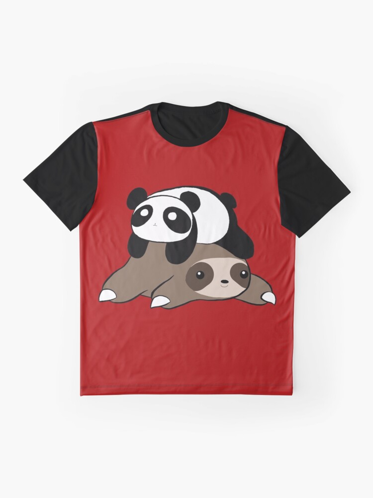 Alternate view of Sloth and Panda Graphic T-Shirt