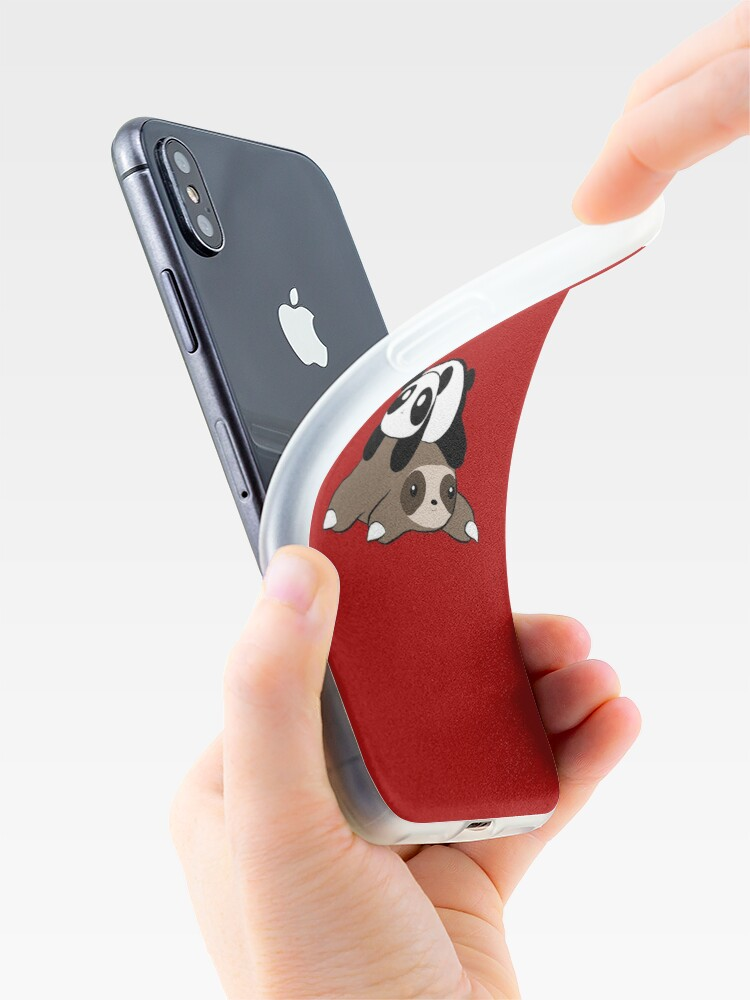 Alternate view of Sloth and Panda iPhone Case & Cover