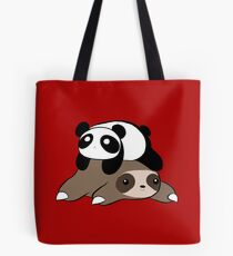 Sloth and Panda Tote Bag