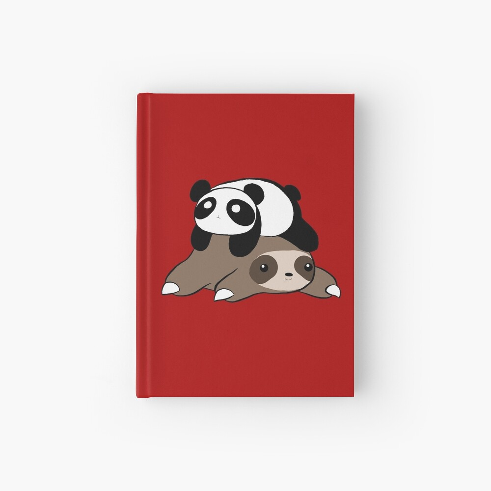 Sloth and Panda Hardcover Journal