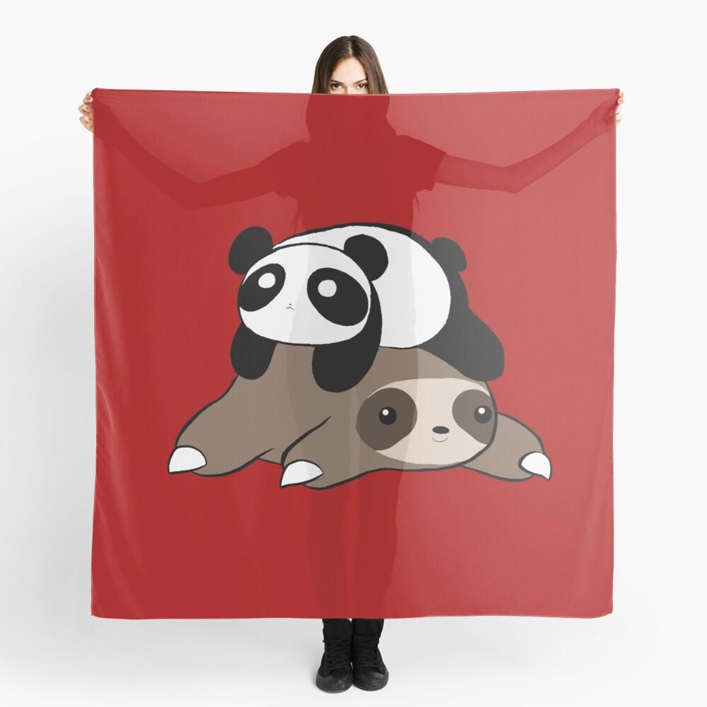 Sloth and Panda Scarf