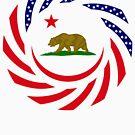 Californian Murican Patriot Flag Series by Carbon-Fibre Media