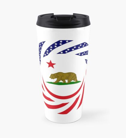 Californian Murican Patriot Flag Series Travel Mug