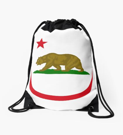 Californian Murican Patriot Flag Series 2.0 Drawstring Bag